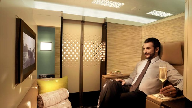 Etihad's first class apartment.