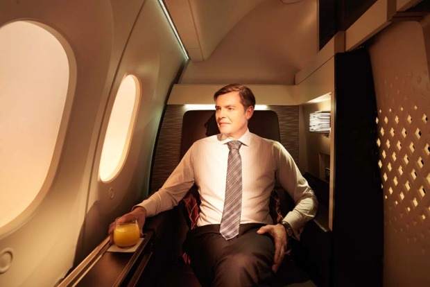 Etihad's first class suite on the 787 Dreamliner.