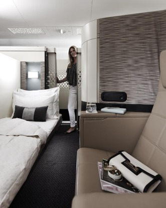 Etihad's first class suite on board the A380.