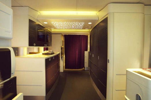Etihad Airbus A380 galley.