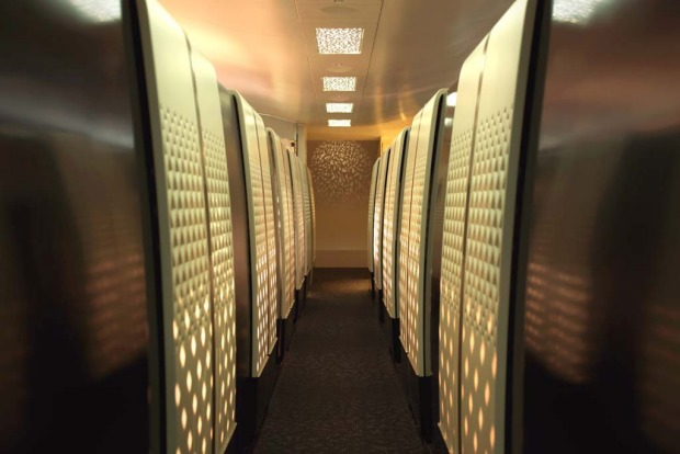 Etihad's first class cabin on the A380.