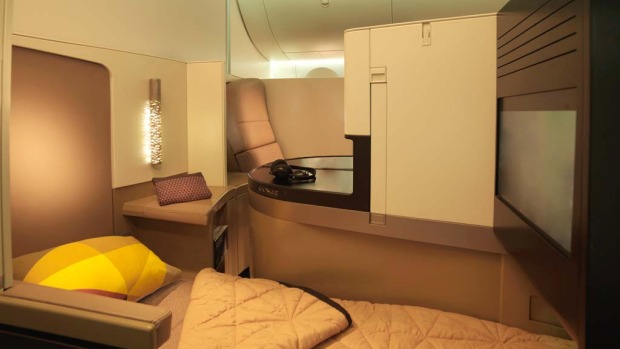 Etihad business class studio.