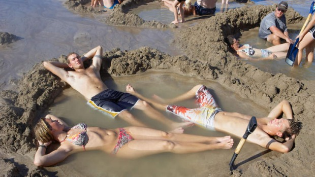 Relax: Hot Water Beach is a magnet for holidaymakers.