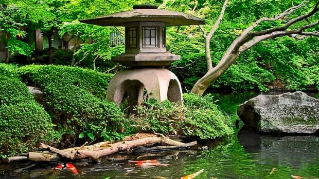 Green peace: Japanese gardens are traditionally places of contemplation.