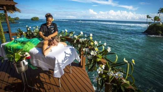 Spellbinding: a massage at Seabreeze Resort.