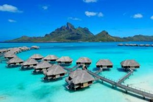 Bluest lagoon: The Four Seasons Resort at Bora Bora.