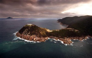 Wilsons Promontory. Lighthouse photographed from a helicopter