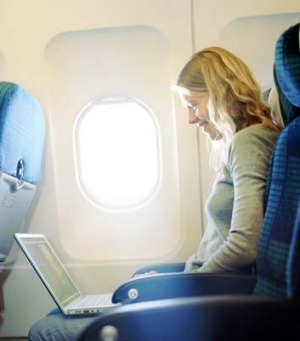 Mid-air connection: More airlines are now equipped with wireless connectivity.