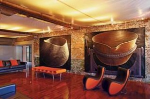 Vibrant display: The Henry Jones Art Hotel in Hobart has more than 300 artworks on show.