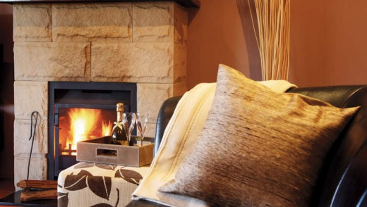 Five-star: The fireside is a comfy focus of a Spicers room.