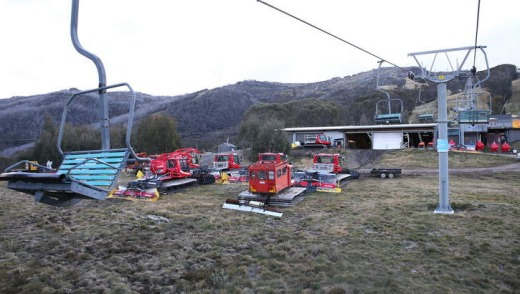 Chairlift to the Eagles Nest lookout at the Thredbo Alpine Village.
