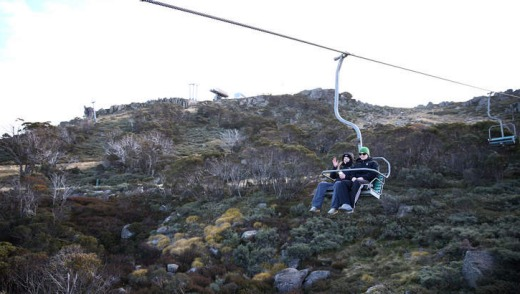 Chairlift to the Eagles Nest lookout at the Thredbo.