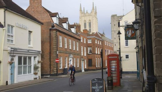 Historic buildings in Bury St Edmunds.