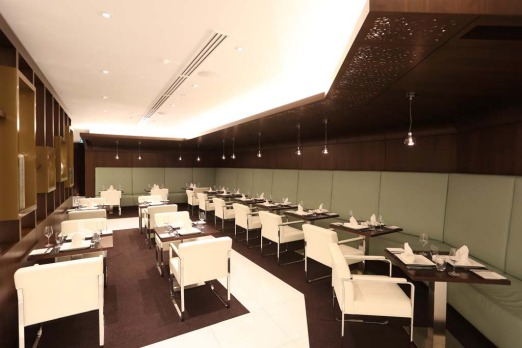 The dinning area in Etihad's new First and Business Class Lounge at Sydney?s Kingsford Smith International Airport.
