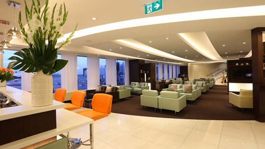 Space for relaxation: Etihad's first and business class lounge at Sydney Airport is designed to suit the needs of ...