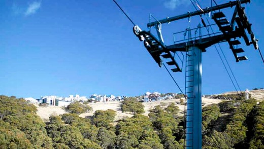 Mount Buller, like Mounts Hotham and Baw Baw, and Falls Creek, was more green than white 10 days from the start of the ...