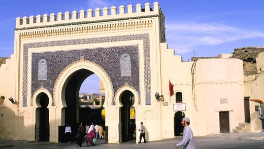 Lost in an immersion of culture: The Bab Kasbah Gate to the Medina in Fes, Morocco.
