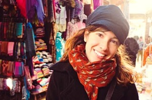 Pretty woman in bazaar in Fes