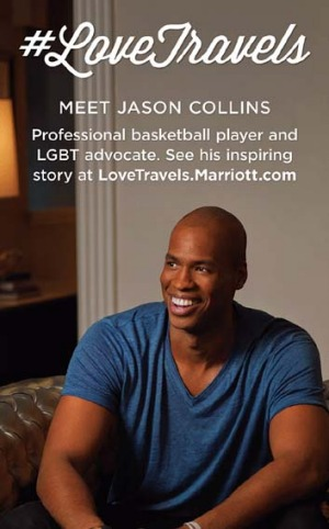 The ad featuring NBA player Jason Collins.