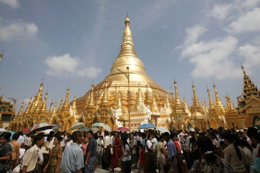 In Myanmar, temples and pagodas are plentiful.