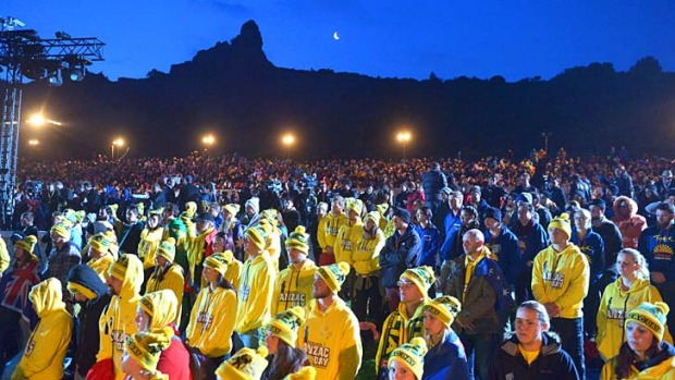 The dawn service at Gallipoli in Turkey on April 25, 2014. Only those who have won the ballot will be able to attend ...