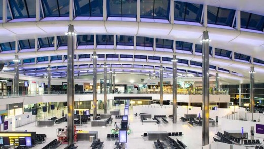 The departure area in the new Terminal 2.