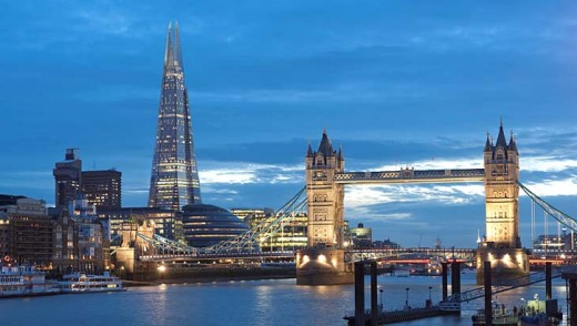 The Shangri-La hotel occupies 17 floors of the 87-storey skyscraper. The Shard is Western Europe's tallest building.