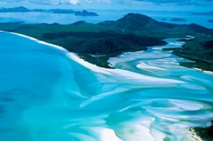 Whitehaven Beach on Whitsunday Island ... rated Australia's best.