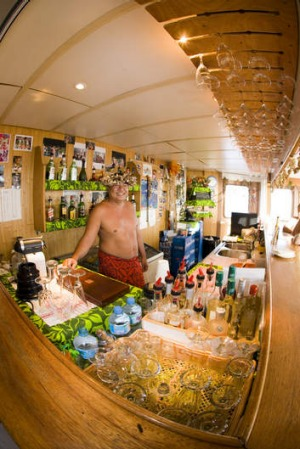 The bar on board Aranui 3.