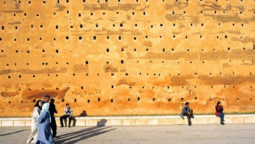 Rabat might not be Morocco's tourist destination but it still has plenty to offer: The wall surrounding Assan tower.