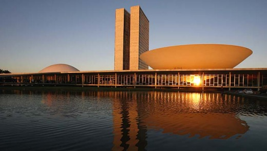 Modernist flare: Brazil's National Congress, designed by Brazilian architect Oscar Niemeyer.