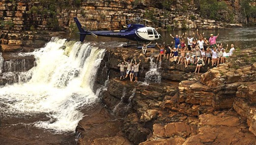 Remote locations: Cruise ship True North's onboard helicopter allows guests to explore the rugged terrain of Eagles Fall.