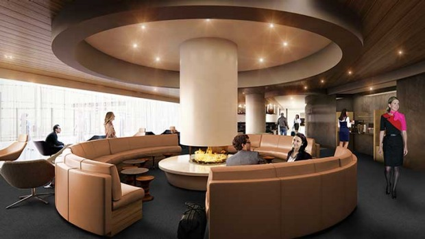 An artist's impression of the new business lounge at LAX's Tom Bradley terminal.