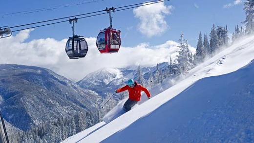 Blue sky skiing and super groomed runs: Aussies can't get enough to the off piste powder on Aspen Mountain, Aspen, Colorado.