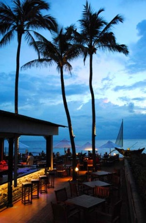 Terrace bar at Galle Face Hotel.
