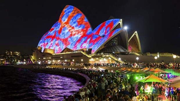 Lights spectacular: The Sydney Opera House during the 2014 Vivid festival.