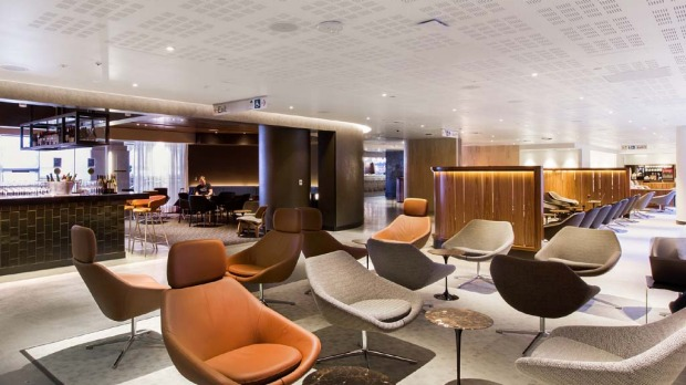 The new Qantas lounge at LAX.