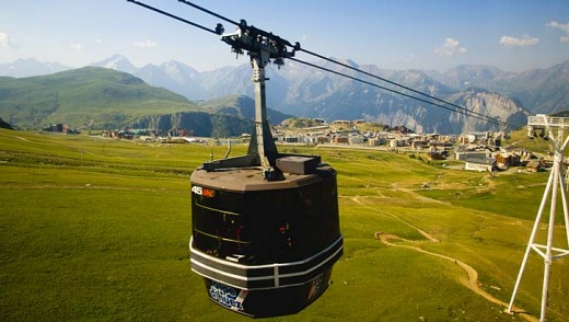 The cable car to the Pic Blanc.