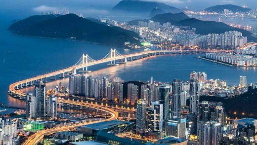 Gwangan Bridge in Busan, Korea.