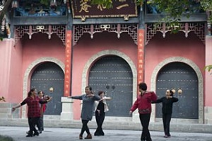 Tai Chi group at Culture Park, Chengdu.