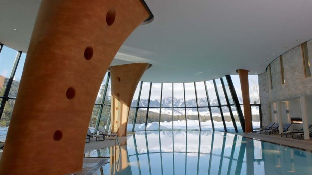 The indoor pool is perfect for a swim during winter.