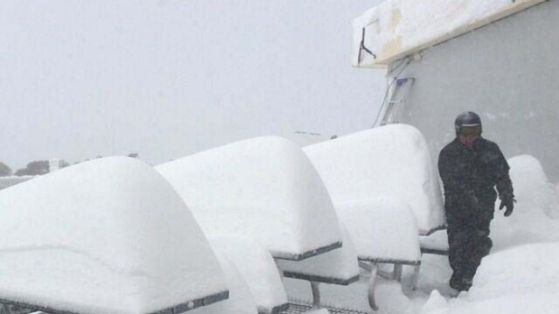 Perisher Mid Station this week.