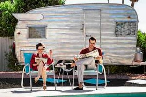 A vintage caravan in Palm Springs, California.