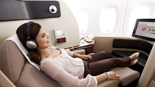 A first-class experience with Qantas.
