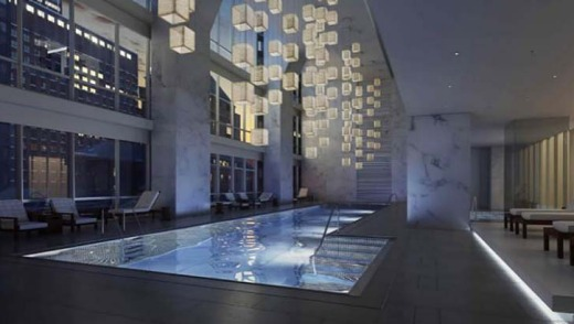 The hotel's indoor swimming pool.