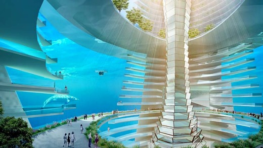 "The new ""floating city"" will feature underwater hotels and a theme park."