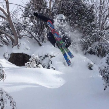 Ski tricks at Perisher this week.