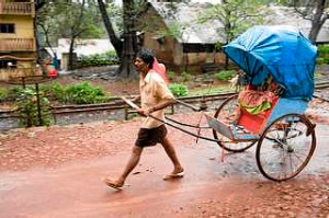 A traditional rickshaw ride.
