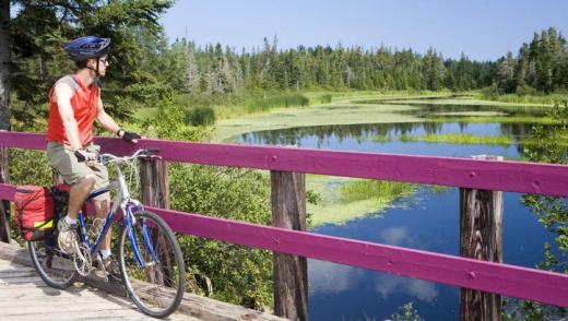Pedal power: Confederation Trail on Prince Edward Island.
