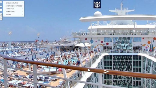The Google Street View on board the Allure of the Seas.